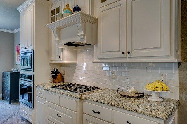 kitchen in custom home in Dallas